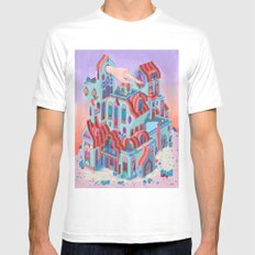 The Pointing House MEDIUM White Mens Fitted Tee