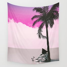 Under the palm tree Wall Tapestry