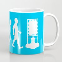 dr who Mugs featuring Dr Who Evolution by Cheeky Designs