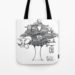 Animal Tree Tote Bag
