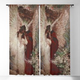The Lovers romantic portrait painting by Dean Cornwell Blackout Curtain