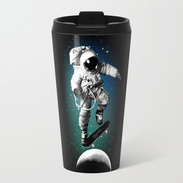 Skateboarding Astronaut Travel Mug