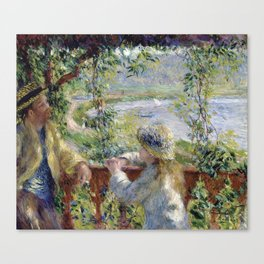 Pierre Auguste Renoir - By the Water Canvas Print