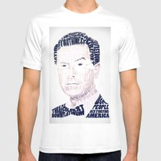 Stephen Colbert Mens Fitted Tee White SMALL