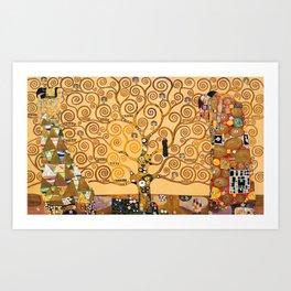 Gustav Klimt Tree Of Life Art Print