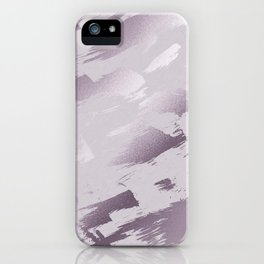 Blush lavender purple abstract glitter brushstrokes iPhone Case