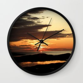 Swallowing midnight sun: darkness is coming Wall Clock