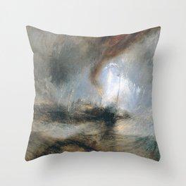 William Turner - Snow Storm Throw Pillow