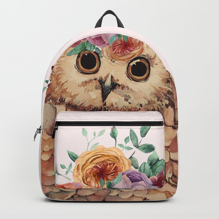 Owl with Flowers Backpack