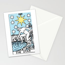 Modern Tarot - 17 The Star Stationery Cards