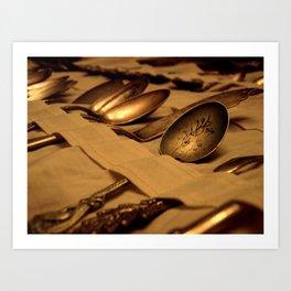 Antique Spoons Art Print