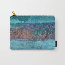 Rust and Cracks Turquoise Carry-All Pouch