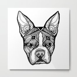 Cosmic Boston Terrier Metal Print
