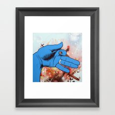 Artist's Hand Portrays Lyin' Ass Dog Whose Sweet Wife Thinks He Is Working Late At The Office Framed Art Print