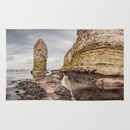 Stack and chalk cliffs Rug