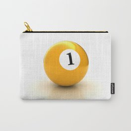 yellow pool billiard ball number 1 one Carry-All Pouch