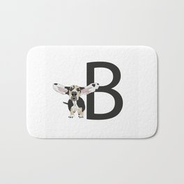 B is for Basset Hound Bath Mat