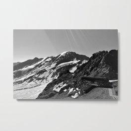 glacier end 3 kaunertal alps tyrol austria europe black white Metal Print