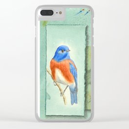 Talisman for Western Bluebirds Clear iPhone Case