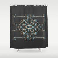 ship Shower Curtains featuring ship by K_REY_C
