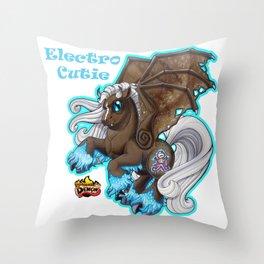 Electro Cutie Throw Pillow