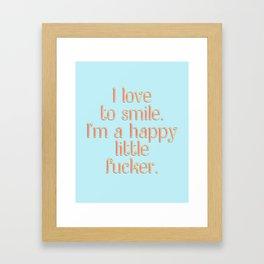 I love to smile Framed Art Print