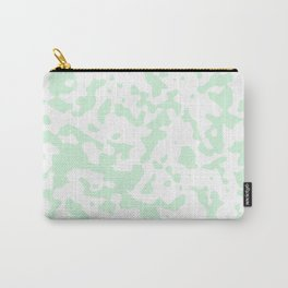 Spots - White and Pastel Green Carry-All Pouch