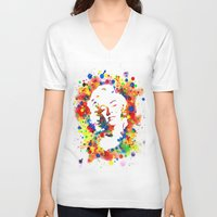 marylin monroe V-neck T-shirts featuring Marylin Monroe by Psyca