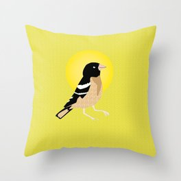 Let The Bird Sing. Throw Pillow