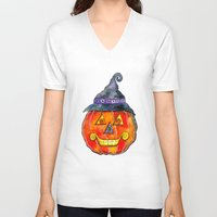 jack V-neck T-shirts featuring Jack by Shelley Ylst Art
