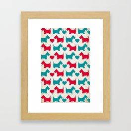 Scotty Dog Framed Art Print