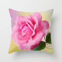 blush Throw Pillows featuring Blush by ThePhotoGuyDarren