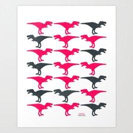 Dinomania D Art Print
