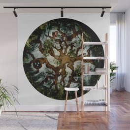 Creatures of the Woodland Treetops Wall Mural