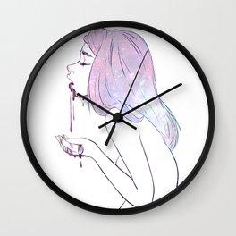 Puke the cosmos Wall Clock
