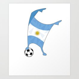 Argentina Flag Football Cup Soccer 2018 Dabbing World Art Print