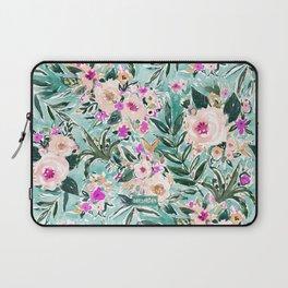 JUNGLE ROMANCE Mint Blush Tropical Floral Laptop Sleeve