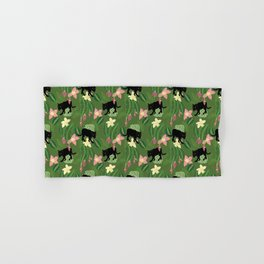 Tropical panther (green) Hand & Bath Towel