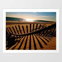 Ocean Shadow Art Print