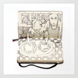 The Last Supper (Pigs) Art Print