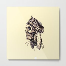 tribal chief Metal Print