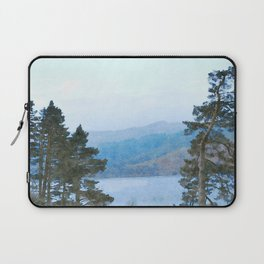 Pine Trees at Thirlmere, Lake District, Cumbria, UK Watercolour Laptop Sleeve