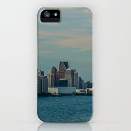 Detroit cityscape iPhone Case