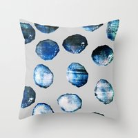 mineral Throw Pillows featuring mineral 03 by LEEMO