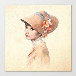 Audrey Hepburn - Eliza Doolittle - Watercolor Canvas Print