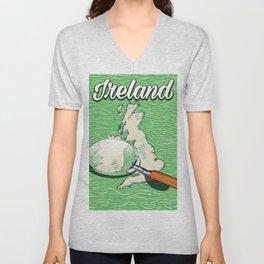 Ireland vintage Style travel poster Unisex V-Neck