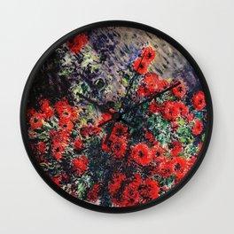 Claude Monet ''Chrysanthèmes rouges'' Wall Clock