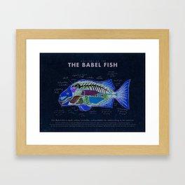 Babel Fish Anatomy Framed Art Print