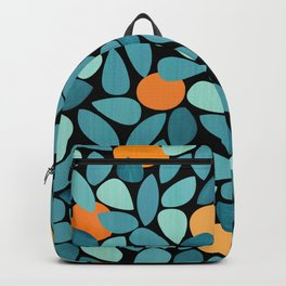 Orange Grove Woodblock Abstract Print Backpack