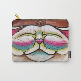 Smiling Cat & Bird Carry-All Pouch